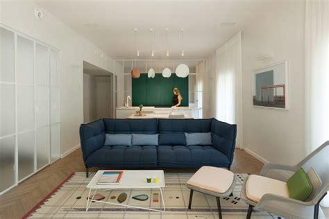bauhaus style home  interior glass walls