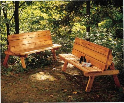 bench turns into picnic table plans park bench turns into a picnic table for two wood