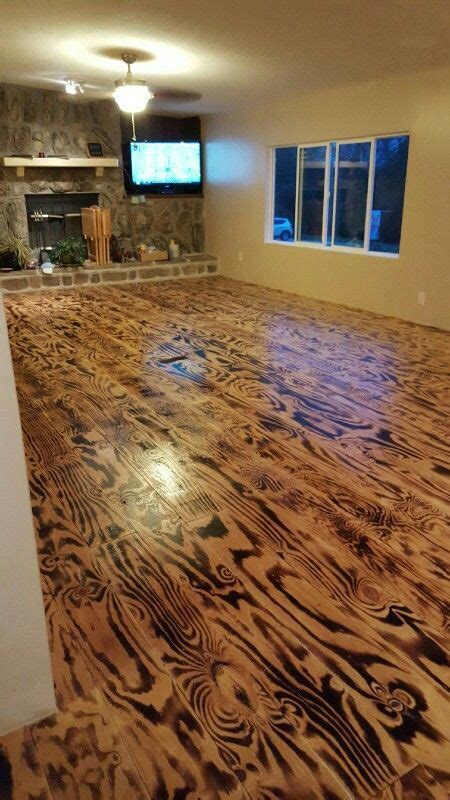 hubby n i made these floors out of plywood n a torch floor pinterest plywood torches