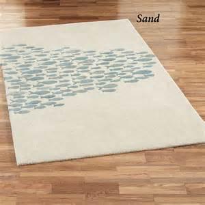 fish rug schooled fish wool area rugs