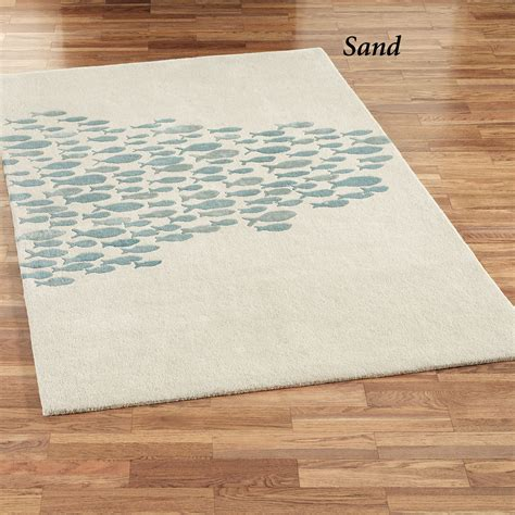 fish area rugs schooled fish wool area rugs