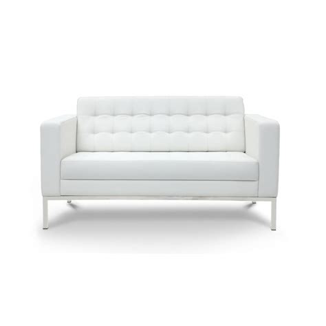 piazza white leather seat