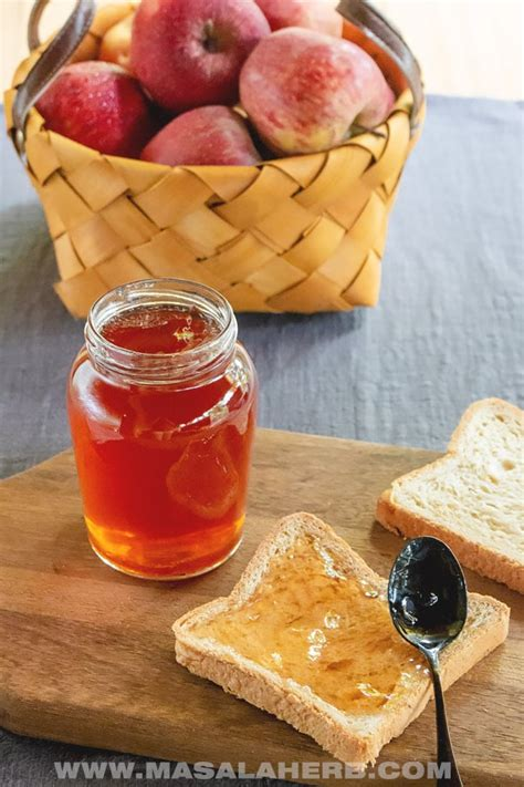 easy apple jelly recipe video masalaherbcom