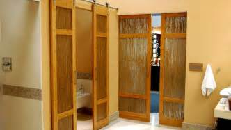 bamboo interior doors luxury bathroom bamboo barn doors with thatch resin by