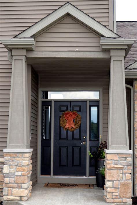 Front Door Pillars Stoned Front Door Pillars Fawn River Laytite And Cut Cobble Blend Jn Style