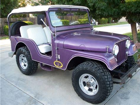 purple jeep cj 1957 willys cj 5 information and photos momentcar