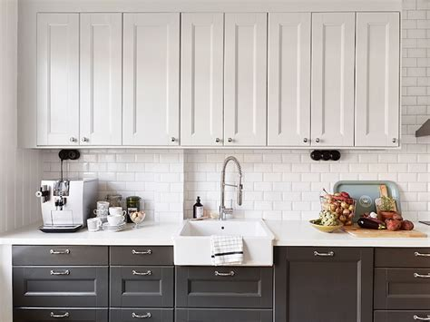 white upper cabinets grey lower white upper cabinets dark lower cabinets transitional