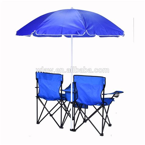 cing folding chairs with umbrella and cooler
