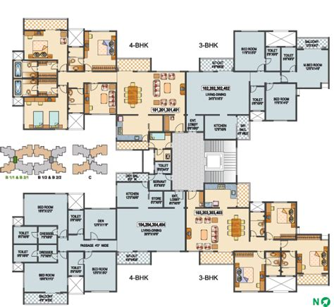 building floor plans typical building type b1 1 b2 1 1st 2nd 3rd 4th floor
