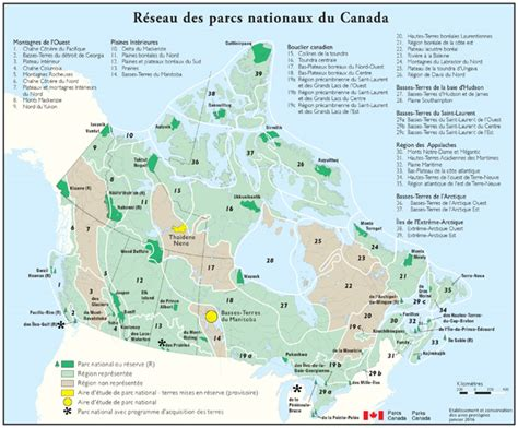 canadian national parks map parks canada booklets brochures maps