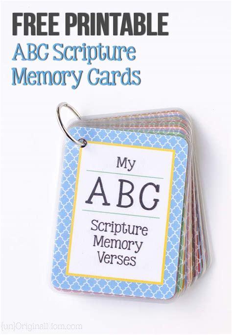 Abc Scripture Cards Printable printable abc scripture memory cards unoriginal