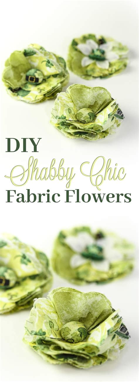 beautiful shabby chic diy fabric flowers accessories