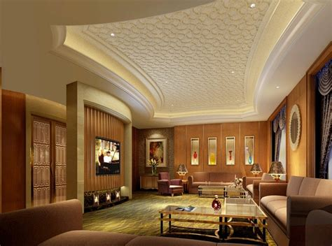 Living Ceiling Design Luxury Pattern Gypsum Board Ceiling Design For Modern