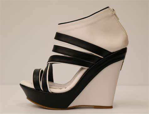 black and white wedge sandals white and black artificial leather wedge sandal 1