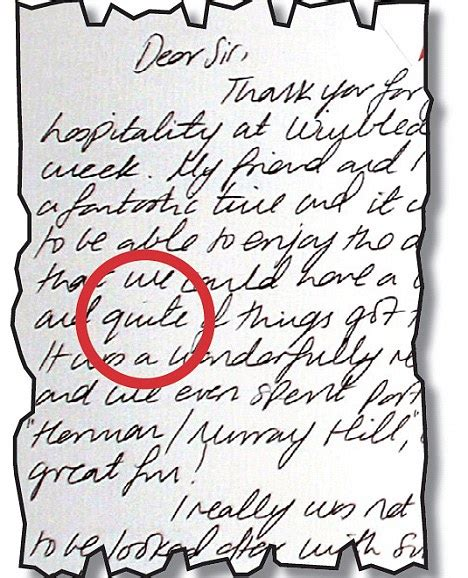 Thank You Letter Mistake kate middleton wimbledon letter thank you note with a