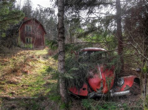Abandoned Car In Front Of House by Abandoned House And Car In The Forest Northern Sweden Photorator
