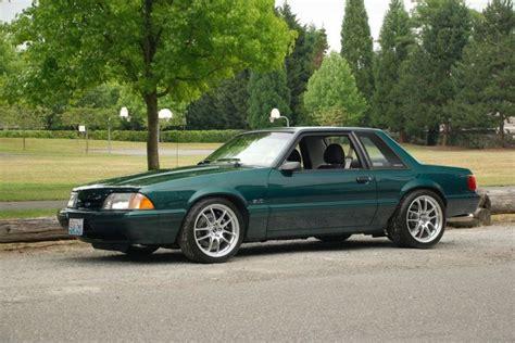 saleen notchback emerald green notchback ford 1979 93 mustang fox