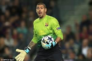 Adidas Valdes victor valdes monaco move closer as former barcelona
