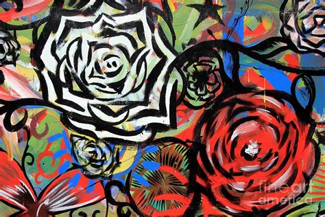Wall Murals For Sale flowers graffitis photograph by sophie vigneault