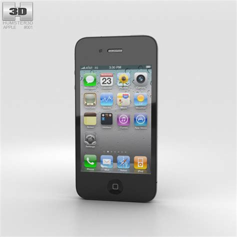 3 Iphone Models by Apple Iphone 4 3d Model Electronics On Hum3d