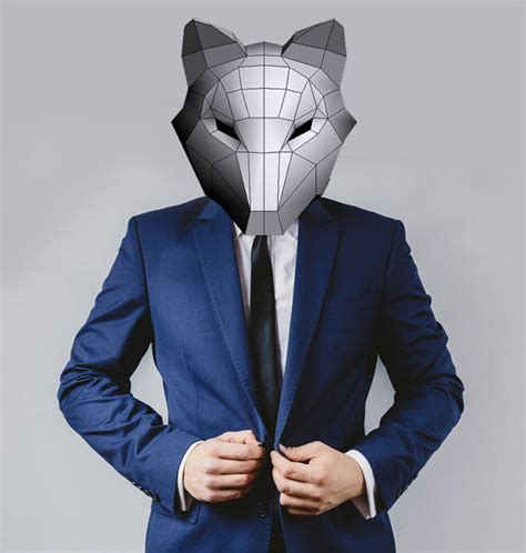 Papercraft Costume - fox mask costumes papercraft printable pdf digital