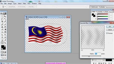 video tutorial gambar 3d tutorial kaedah membuat gambar kibaran bendera malaysia 3d