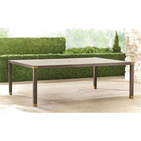 Patio Table 84 X 60 Brown Form 84 In X 60 In Rectangular Patio Dining