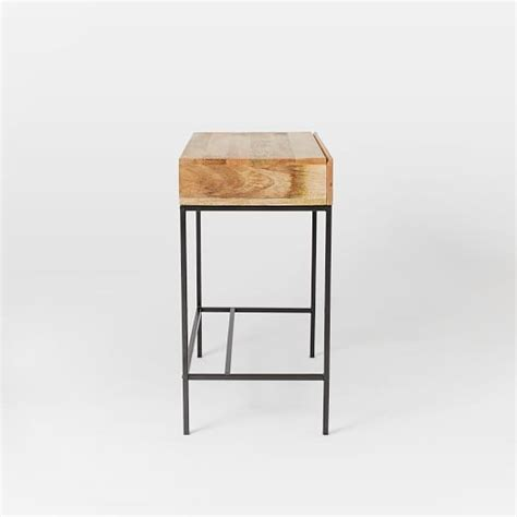 Industrial Storage Mini Desk West Elm West Elm Small Desk