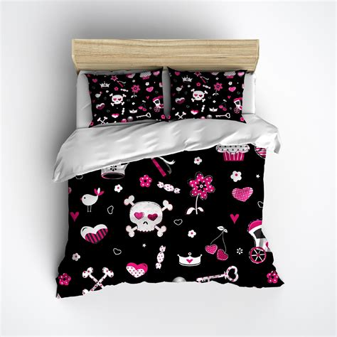 punk comforter punk princess black skull bedding ink and rags