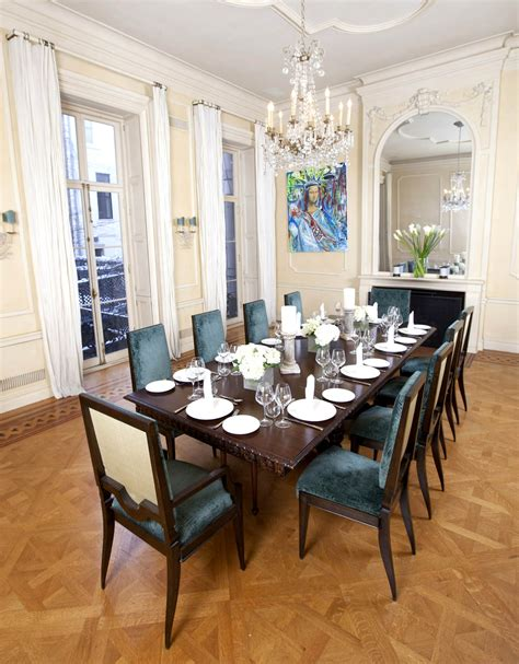 deluxe italian dining room  large interior