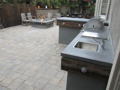 concrete backyard makeover rio del mar backyard makeover contemporary exterior