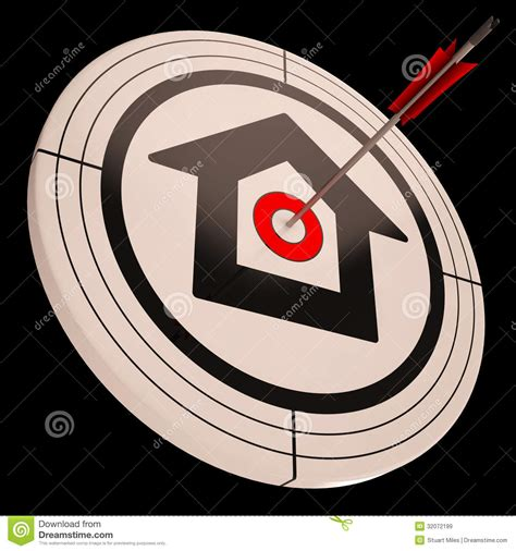 target house target house shows success in real estate royalty free stock images image 32072199