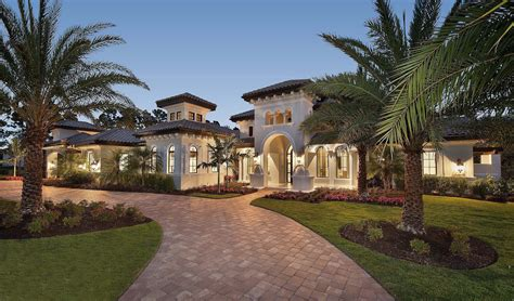 Luxury Home Plans Florida by Luxury Villa With Influences 66351we Florida
