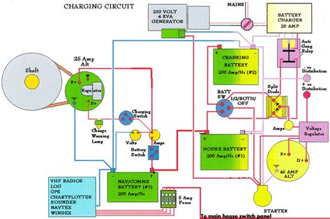 charging alternator wiring diagram alternator light wiring