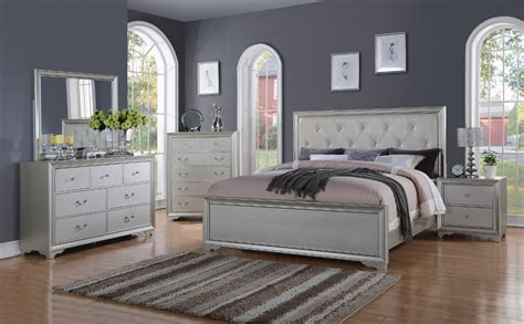 hollywood style bedroom sets hollywood collection silver 6 pc queen bedroom set queen