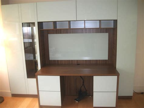 Desk Wall Unit by Custom Desk With Home Office Storage