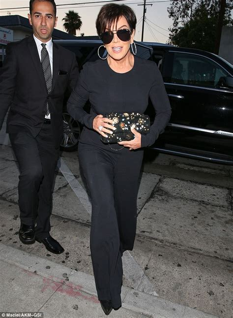 977 103rb Jumsuit Kardhasian kris jenner cuts a stylish figure in a black jumpsuit and chanel handbag for dinner in la