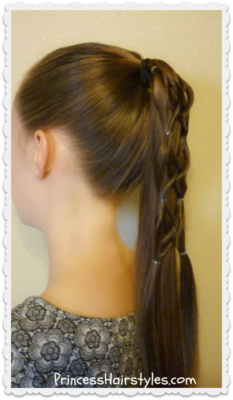 Criss Cross Hairstyles by Criss Cross Woven Ponytail Hairstyle Fsetyt