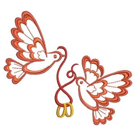 wedding rings embroidery design free wedding ring doves embroidery designs machine embroidery