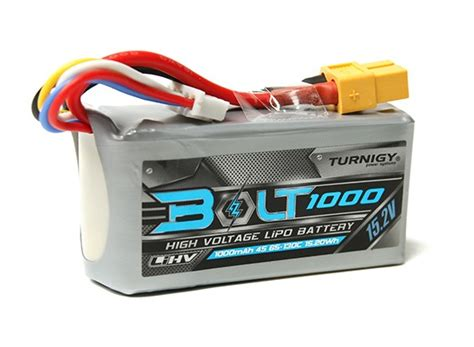 Lipo Battery High Voltage Lihv 4s 152v 1000mah 80 160c Onbo Power turnigy bolt 1000mah 4s 15 2v 65 130c high voltage lipoly pack lihv