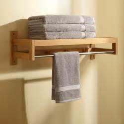 image bathroom towel shelf rack home bathroom pathein bamboo towel rack with hooks