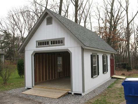 Sheds With Garage Door by Garden Shed Garage Door On One End Pole Barn Ideas