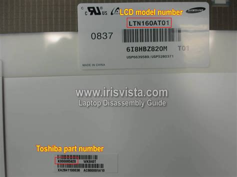 toshiba satellite a355 a355d a350 a350d screen removal