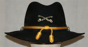Authentic cavalry stetson cowboy western hat chinstrap crossed sabers