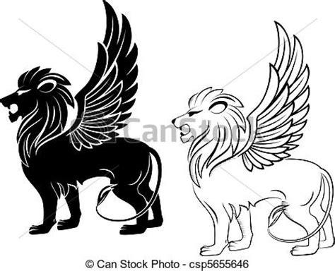 clip art vecteur de h 233 raldique lion isol 233 lion 224