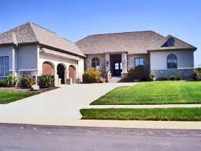 Large One Story Homes Small Luxury Homes Ranch Style House Floor Plans Designs Single Floor
