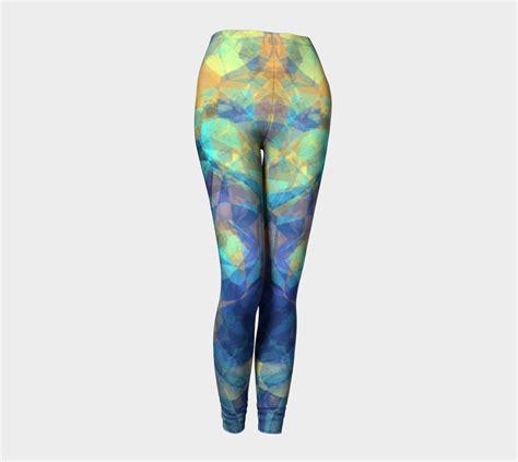pattern radiant leggings radiant blue abstract leggings by pugmom4 shop art