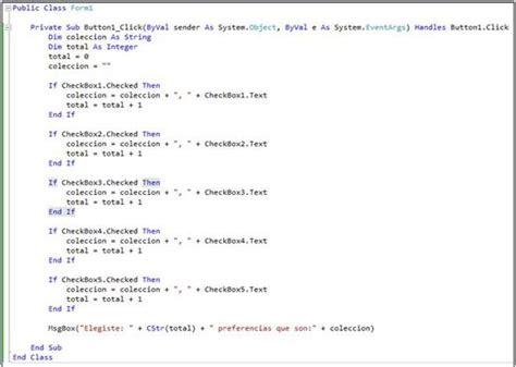 imagenes msgbox visual basic checkbox en visual basic 2010 instrucciones