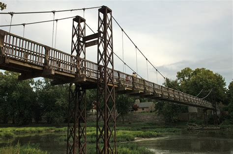 Pontiac Il Zip by Pontiac Il Swinging Bridges Photo Picture Image