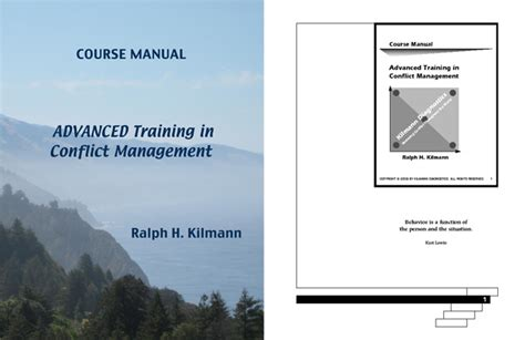 user guide cover page template our course manuals kilmann diagnostics